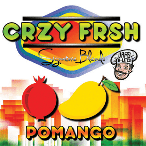 "CRZY FRSH ""Signature Blends"" by Vape D-Lites - Pomango"