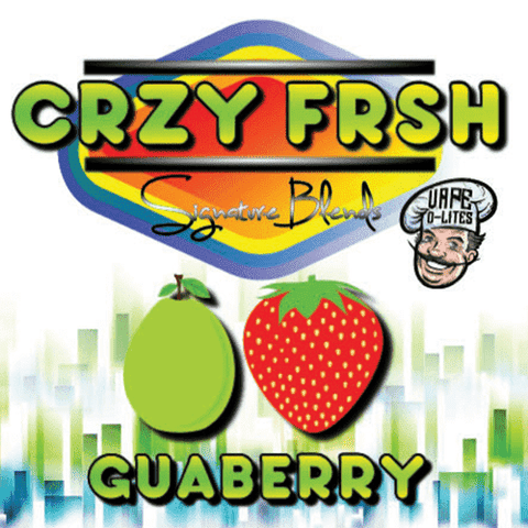 "CRZY FRSH ""Signature Blends"" by Vape D-Lites - Guaberry"