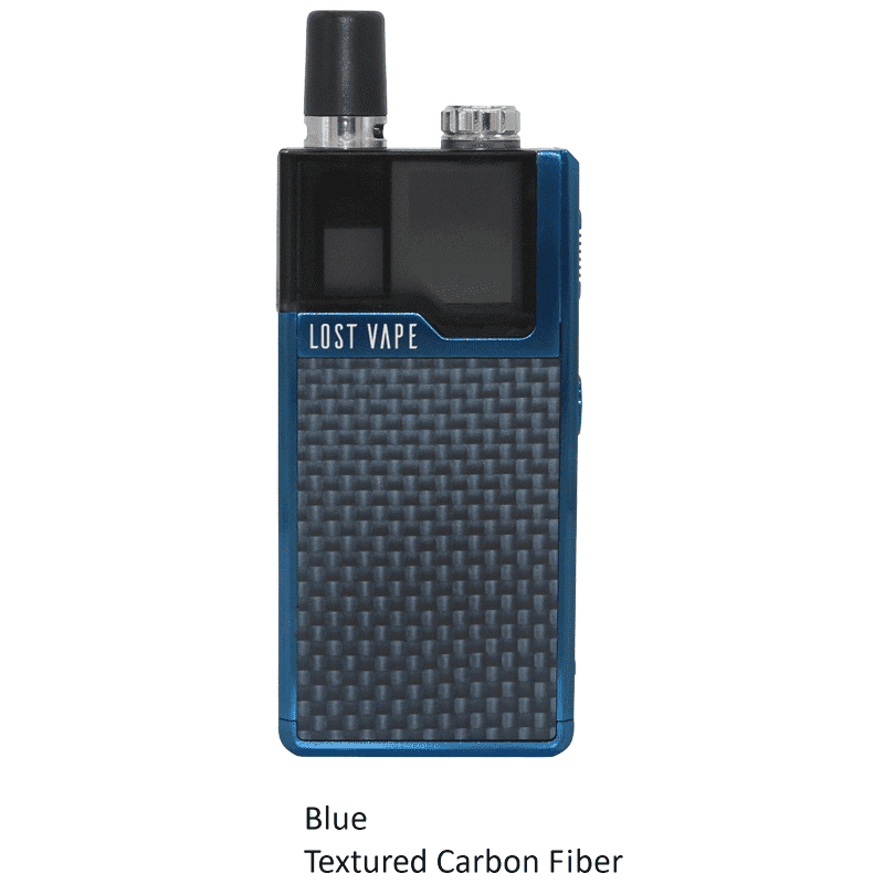 Lost Vape Orion 40W DNA GO AIO Kit Blue Carbon Fiber Pod System - Juicy Js Vapes
