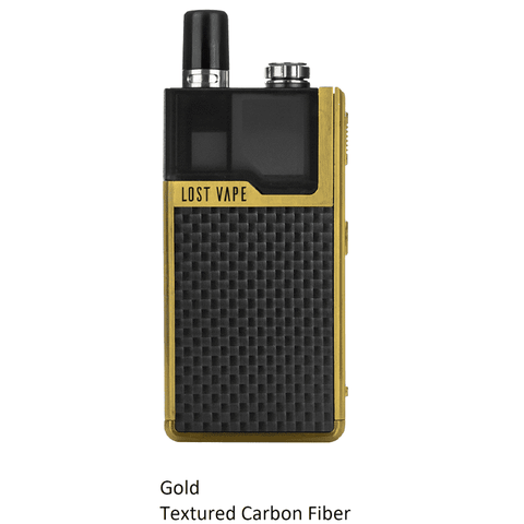 Lost Vape Orion 40W DNA GO AIO Kit Gold Carbon Fiber Pod System - Juicy Js Vapes