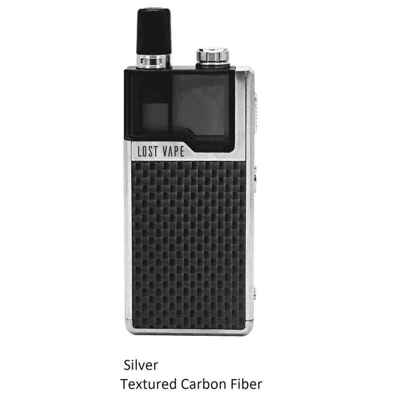 Lost Vape Orion 40W DNA GO AIO Kit Stainless Steel Carbon Fiber Pod System - Juicy Js Vapes