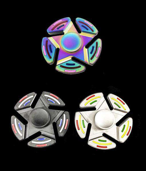 Tobeco Five-Pointed Star Fidget Spinner-Rainbow