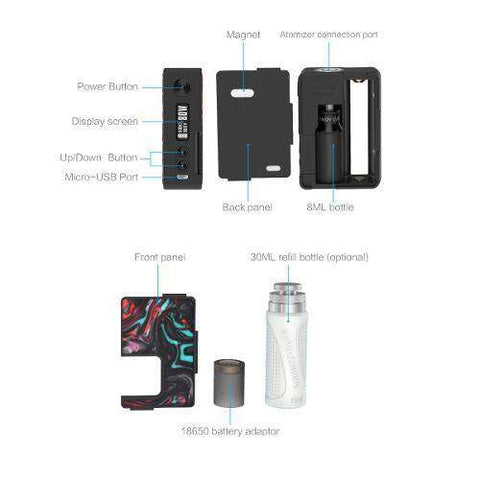 Pulse BF 80W Regulated Squonk Mod by Vandy Vape (Resin)