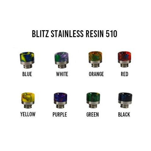 Blitz Stainless Resin 510 Drip Tip