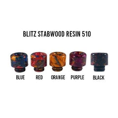 Blitz Stab Wood Resin 510 Drip Tip