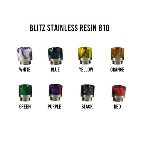 Blitz Stainless Resin 810 Drip Tip