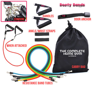 Complete Home Gym with Booty Straps (Ankle/Wrist Straps) - Booty Bands PH