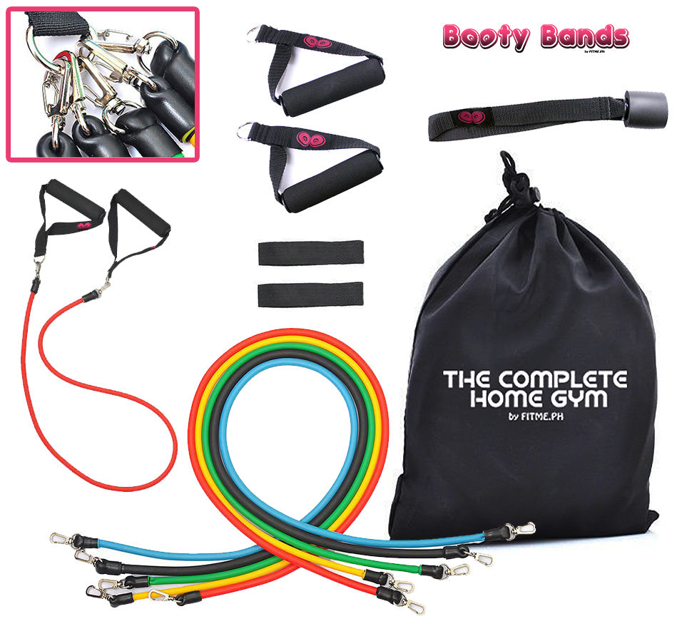 Complete Home Gym with Booty Straps (Ankle/Wrist Straps)