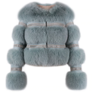 LIAN CROP FUR COAT
