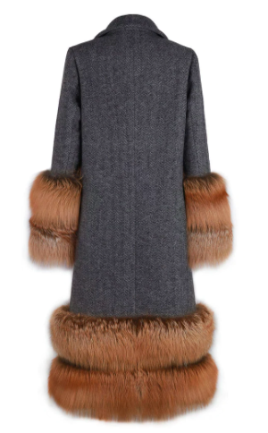 KARLZ FUR WOOL COAT