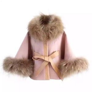 KALA KIDS FUR WOOLEN CAPE