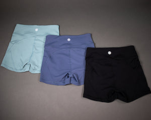 Petra Pocket Shorts- (High-Rise)- Black - Equinox Movement