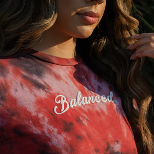"Tie Dye ""Puffy Script"" Tee- Wildfire (Uni-sex) - Equinox Movement"