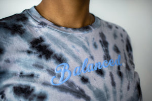 "Tie Dye ""Puffy Script"" Tee- Pearl (Uni-sex) - Equinox Movement"