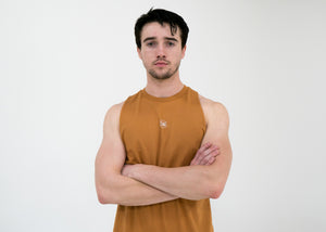 Men's Script Cut-Off Tank -Meerkat - Equinox Movement