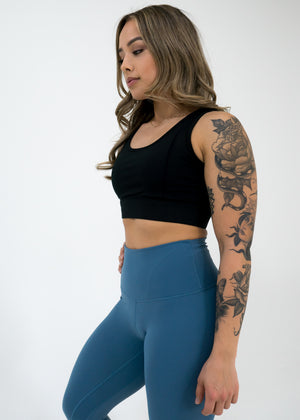 Nova Reflect Leggings (High-Rise) -Steel Blue - Equinox Movement