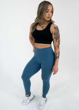 Nova Reflect Leggings (High-Rise) -Steel Blue