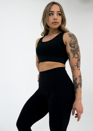 Nova Reflect Leggings (High-Rise) -Black - Equinox Movement