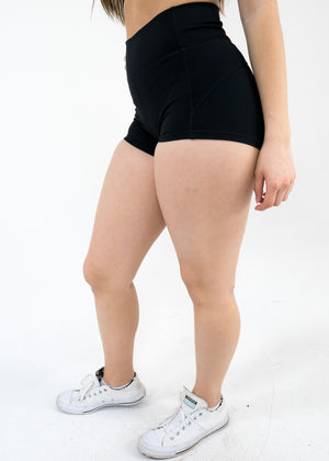 Hydra Movement Shorts (High-Rise) -Black