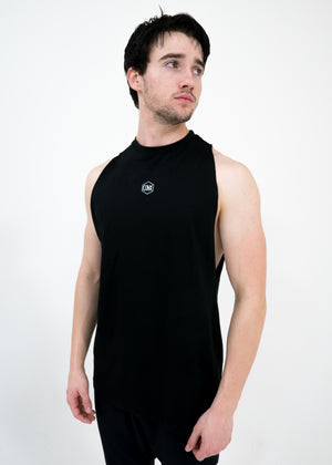 Men's Script Cut-Off Tank -Black - EQNX MVMT
