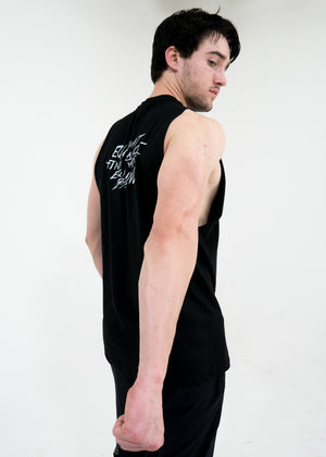 Men's Script Cut-Off Tank -Black - Equinox Movement