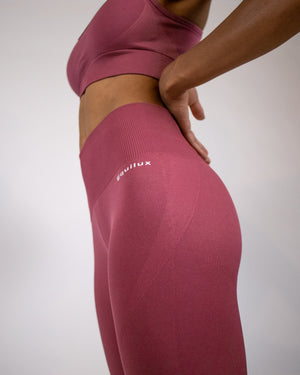 Ultra-flex Seamless Leggings V4- Raspberry - Equinox Movement