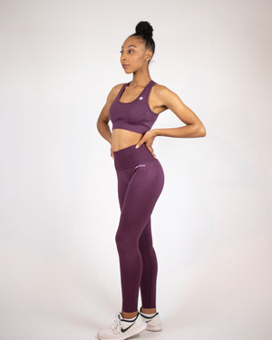 Ultra-flex Seamless Leggings V4- Plum - Equinox Movement