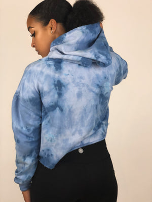 "'Sky"" Cropped Hoodie (Limited Edition) - EQNX MVMT"