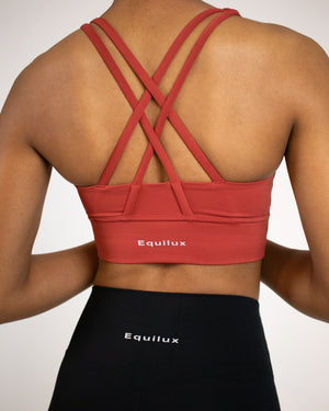 Ivy Reflect Sports Bra- Cherry - Equinox Movement