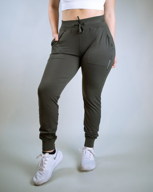 Lucid Joggers- Olive - Equinox Movement