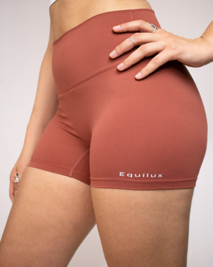 No Seam Shorts- Rust - Equinox Movement