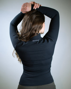 Gamma Zip Jacket- Black - Equinox Movement
