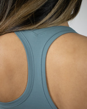 Viva Cropped Tank- Teal - Equinox Movement
