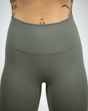 No Seam Leggings (High-Rise)- Forest Green