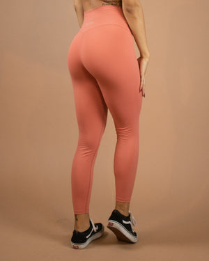 No Seam Leggings (High-Rise)- Peach - Equinox Movement