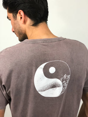 """Stay Balanced"" Vintage Wash Tee- Ash Grey (Uni-sex) - Equinox Movement"