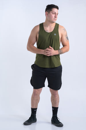 Men's Reflect Tank- Olive - Equinox Movement