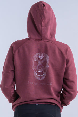 Diamond Skull Hoodie (Uni-Sex)- Vintage Brick - Equinox Movement