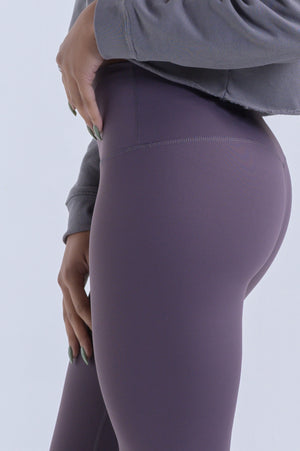 Nova Reflect Leggings (High-Rise)- Lavender Grey - Equinox Movement