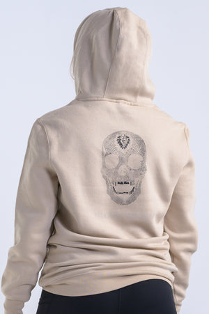 Diamond Skull Hoodie (Uni-Sex)- Sand-Shell Tan - Equinox Movement