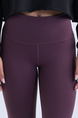 Nova Reflect Leggings (High-Rise)- Burgundy - Equinox Movement