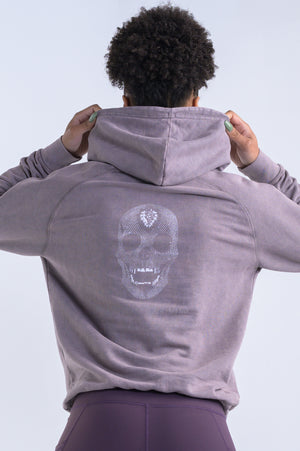 Diamond Skull Hoodie (Uni-Sex)- Vintage Ash - Equinox Movement