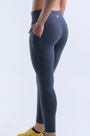 Wanderlust Pocket Leggings- Aegean Blue - EQNX MVMT