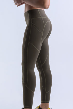 Wanderlust Pocket Leggings- Olive - Equinox Movement