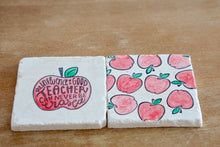 Teacher Marble Coasters - Lace, Grace & Peonies