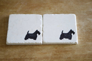 Scottie Dog Coasters - Lace, Grace & Peonies