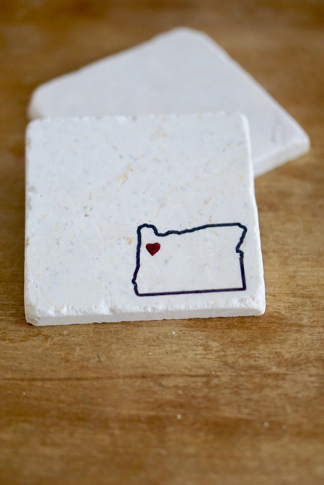 Oregon Marble Coasters - Lace, Grace & Peonies