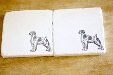 Brittany Marble Dog Coasters - Lace, Grace & Peonies