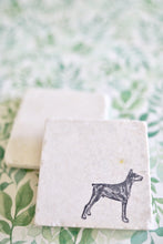 Doberman Stacked Marble Coasters - Lace, Grace & Peonies