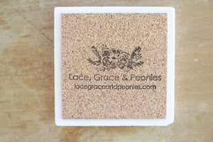 Sloth Coasters - Lace, Grace & Peonies
